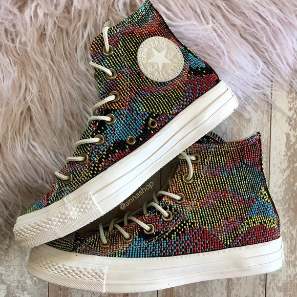 95909837ba8a NWT converse high tops embroidery